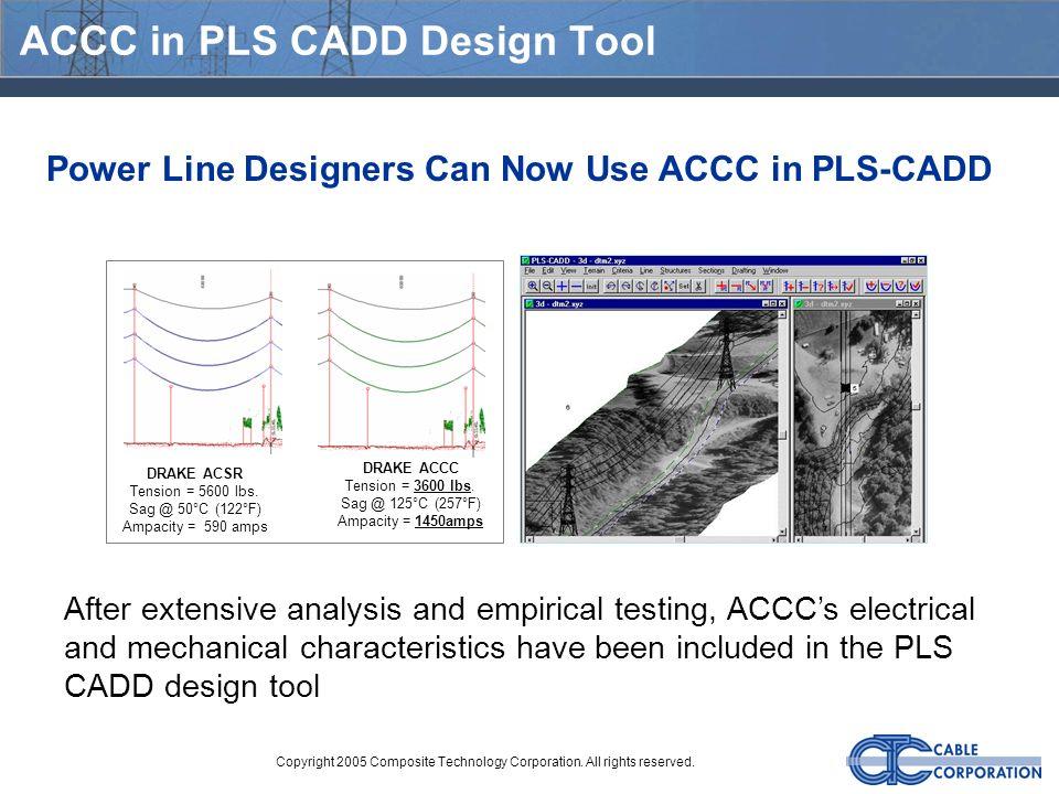 ACCC in PLS CADD Design Tool
