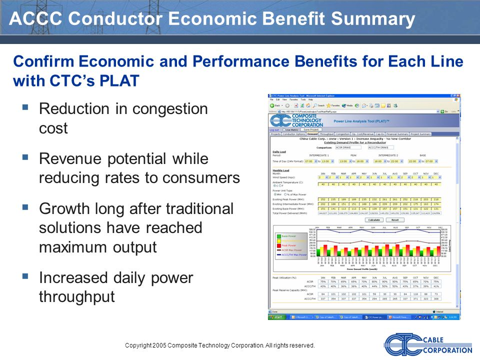 ACCC Conductor Economic Benefit Summary
