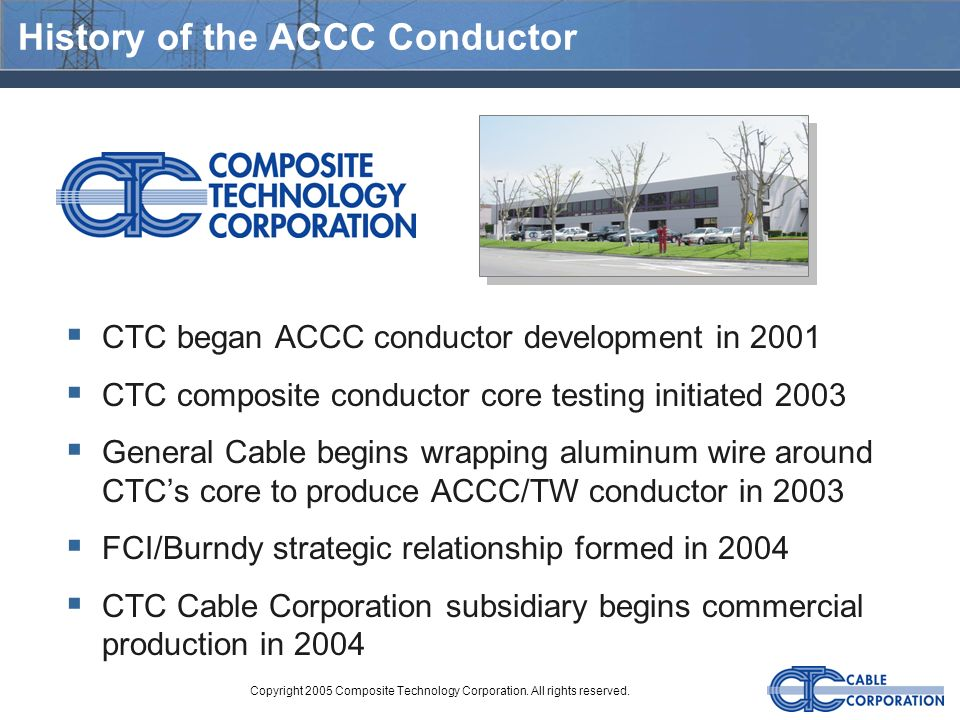 History of the ACCC Conductor
