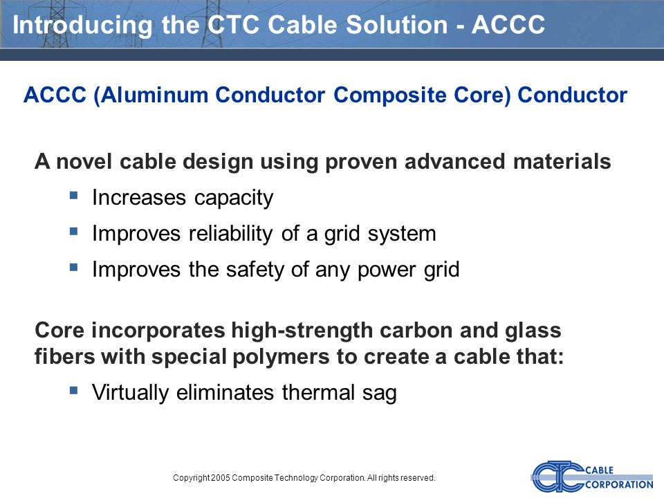 Introducing the CTC Cable Solution - ACCC