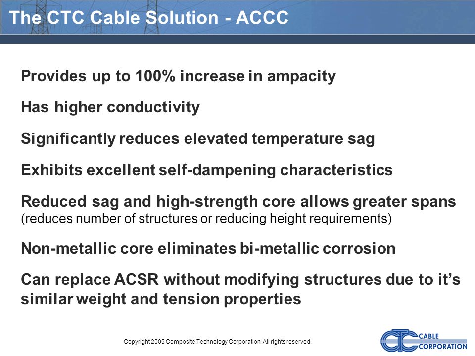 The CTC Cable Solution - ACCC