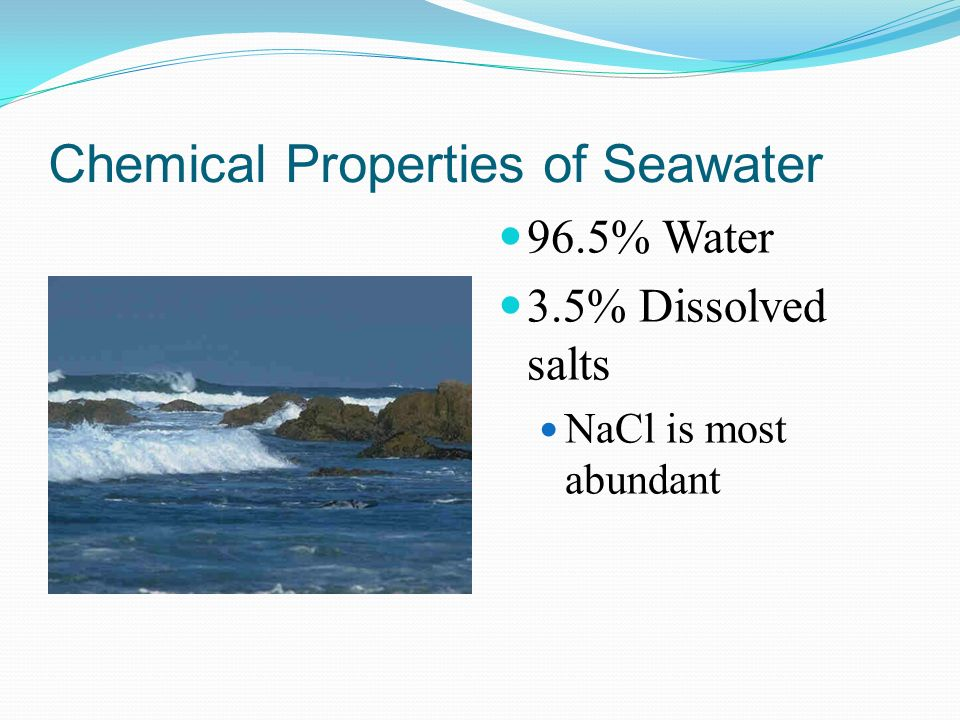Chemical Properties of Seawater