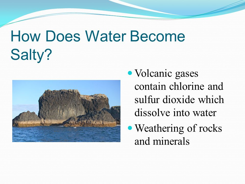 How Does Water Become Salty