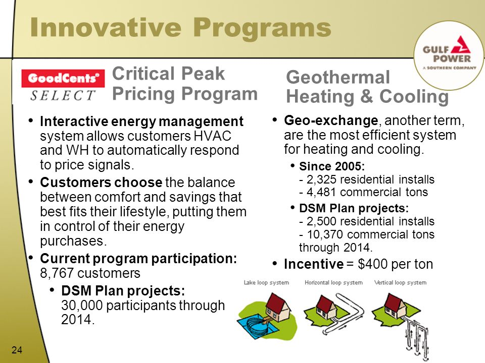 Innovative Programs Critical Peak Pricing Program Geothermal