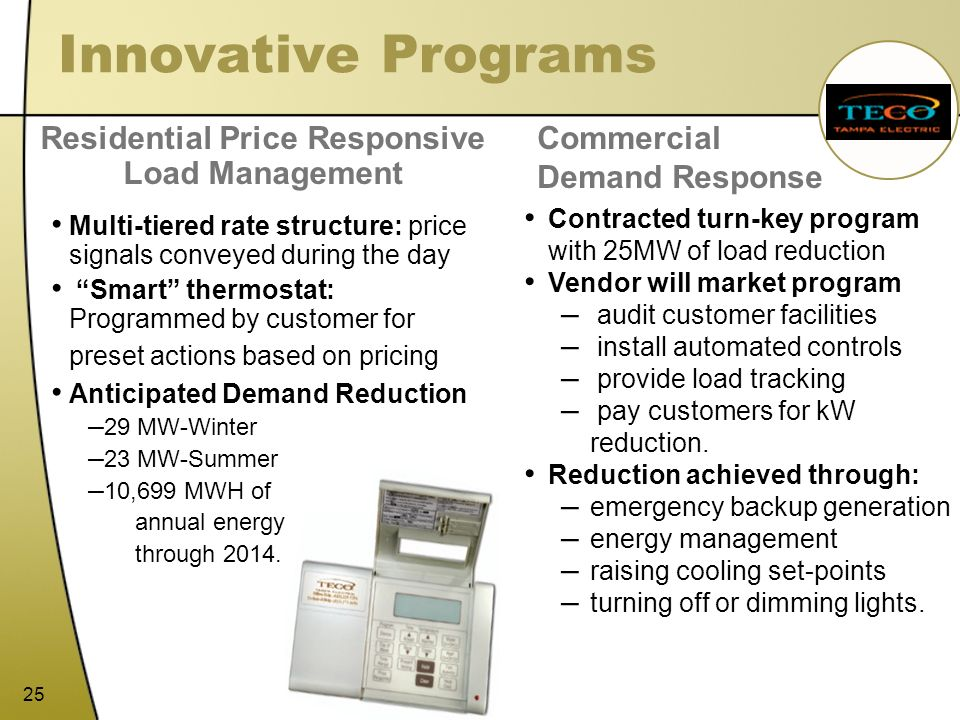Residential Price Responsive Load Management