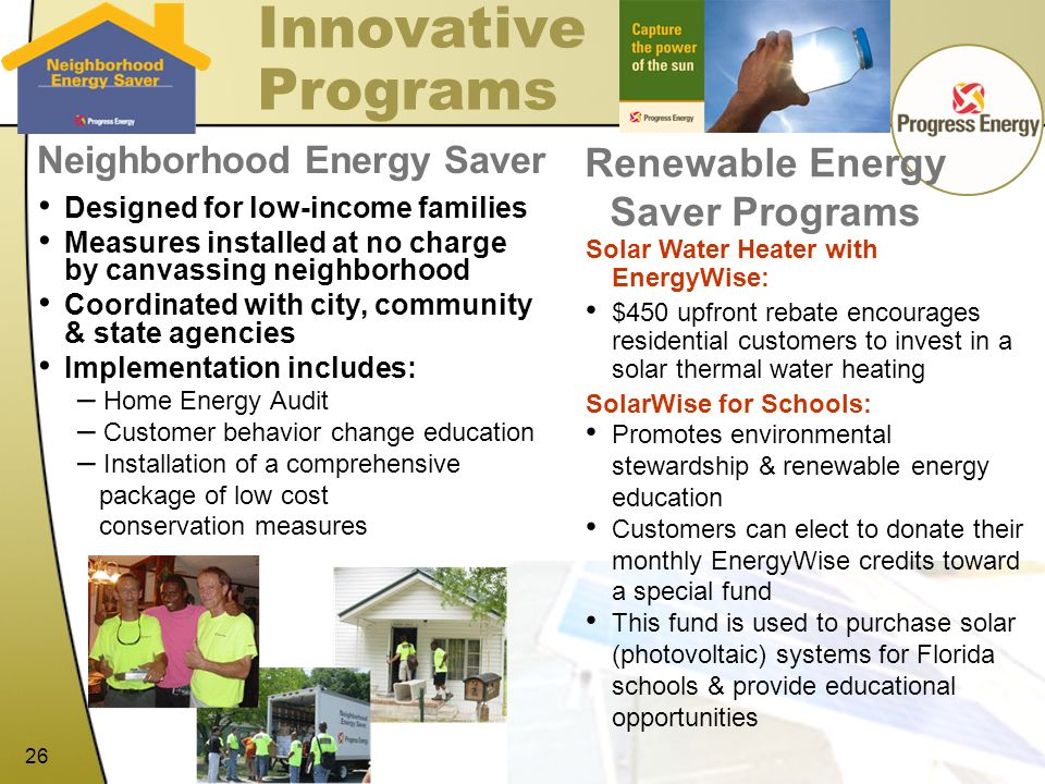 Renewable Energy Saver Programs