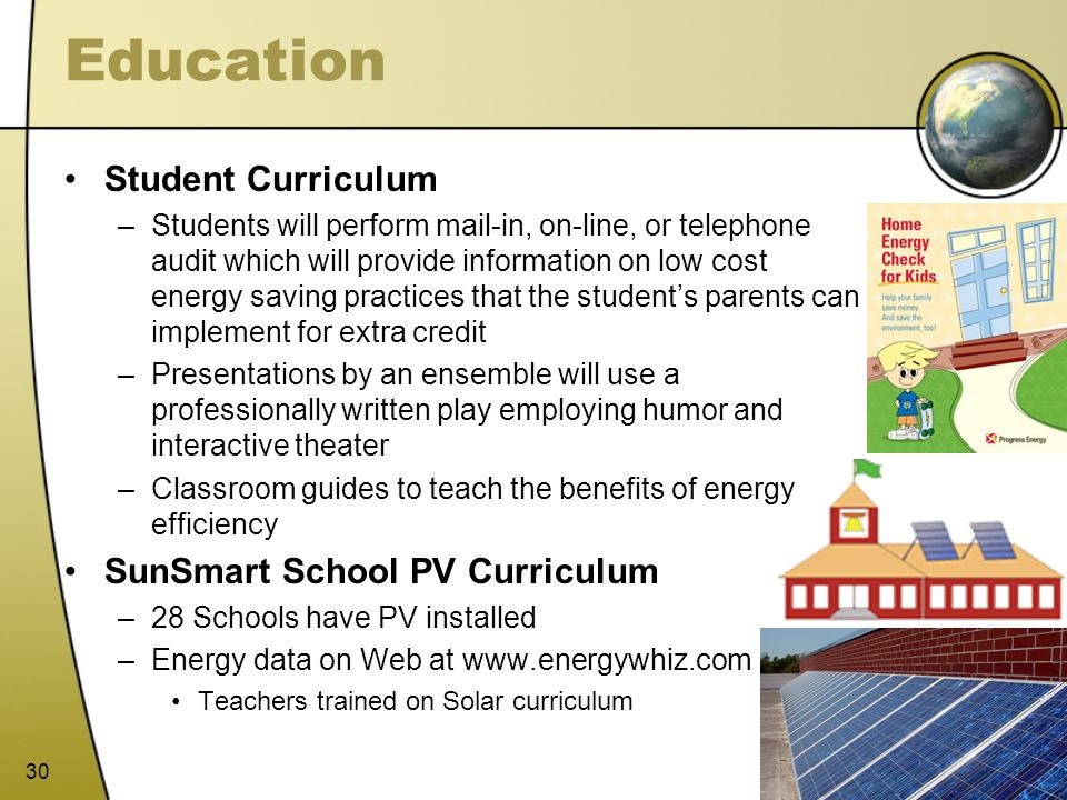 Education Student Curriculum SunSmart School PV Curriculum