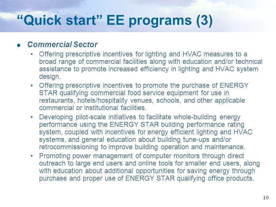 Quick start EE programs (3)
