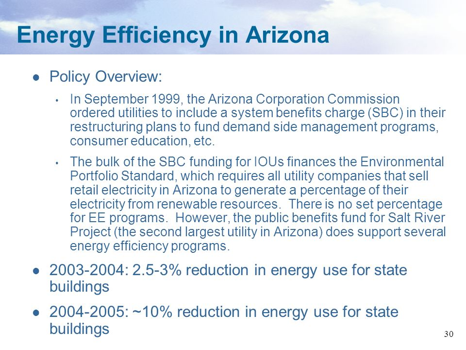 Energy Efficiency in Arizona
