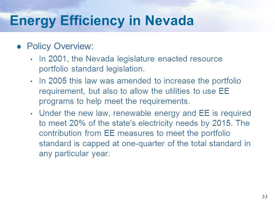 Energy Efficiency in Nevada