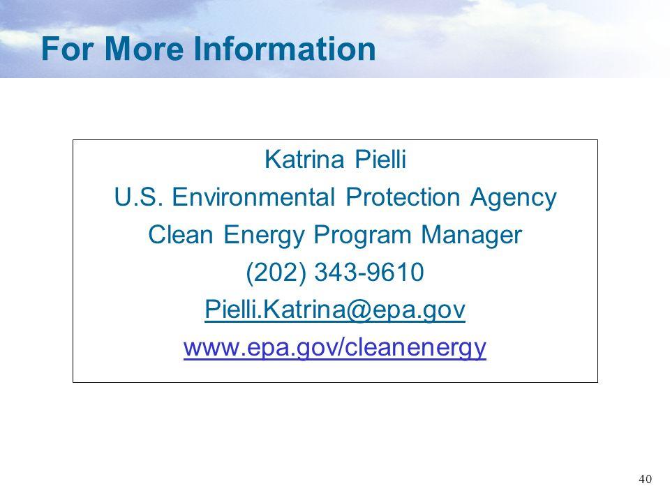 For More Information Katrina Pielli
