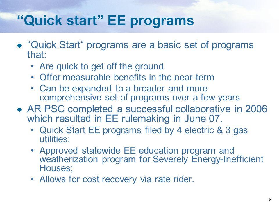 Quick start EE programs