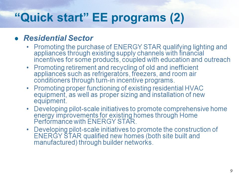 Quick start EE programs (2)