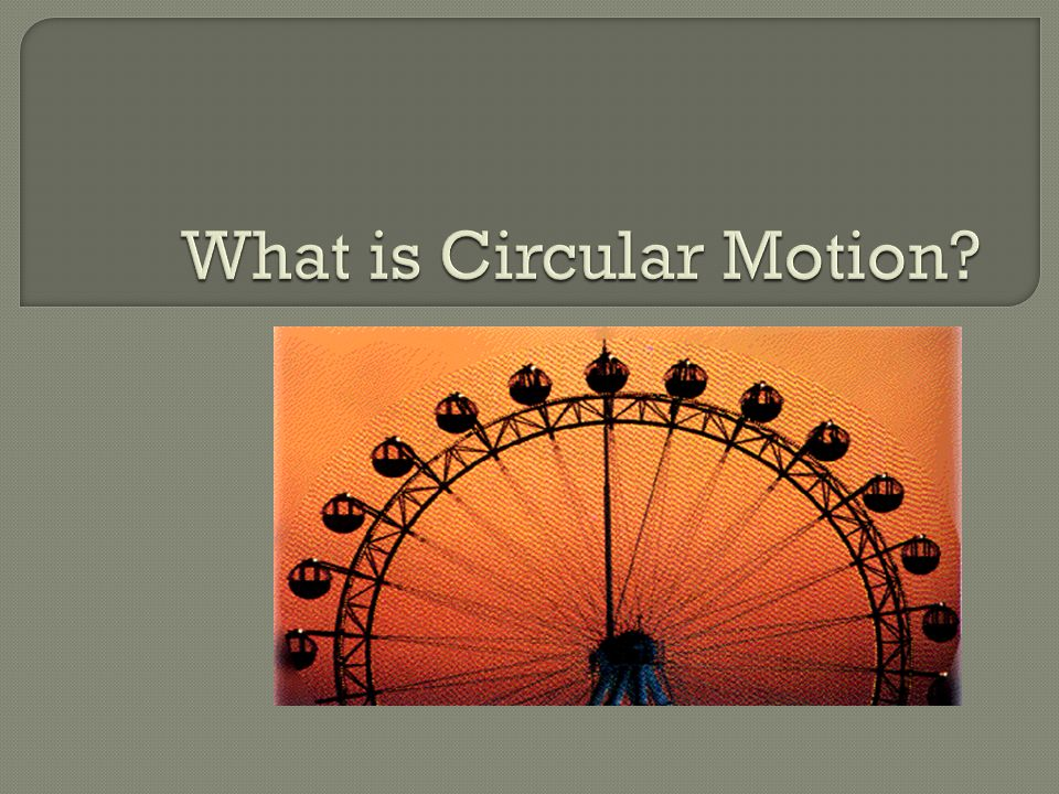 What is Circular Motion