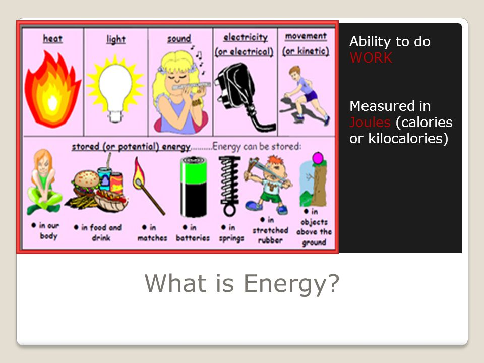 What is Energy Ability to do WORK