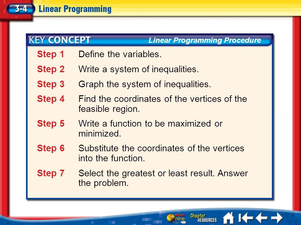 Step 1 Define the variables.