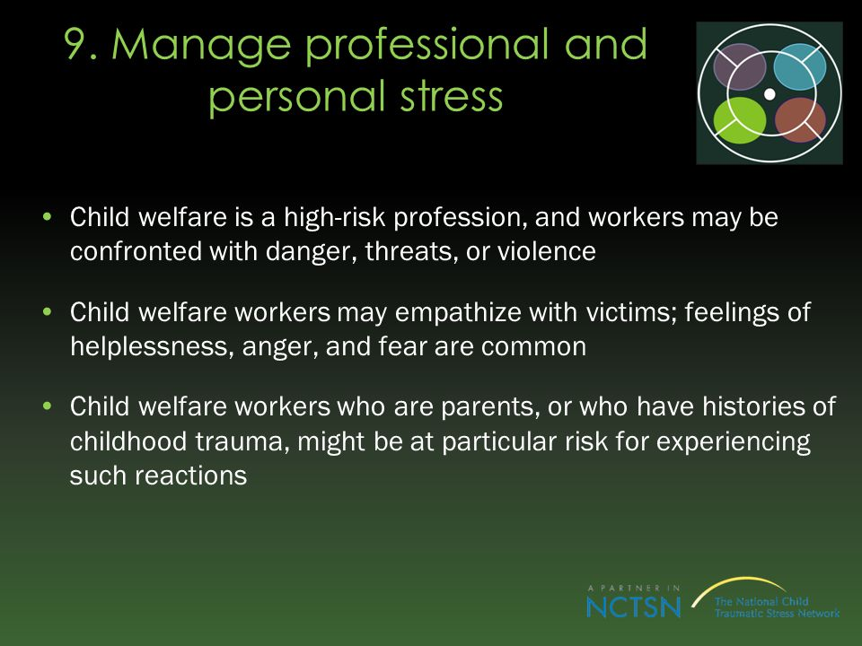 9. Manage professional and personal stress