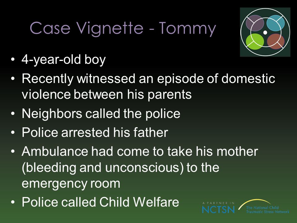 Case Vignette - Tommy 4-year-old boy
