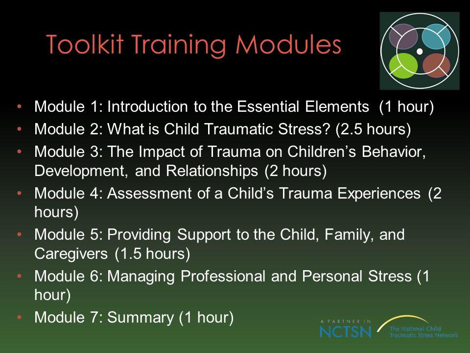 Toolkit Training Modules