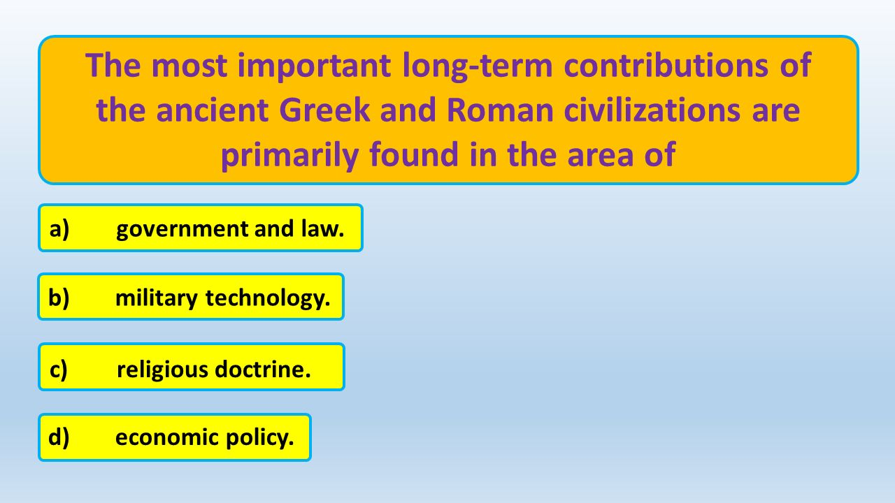 Early greek and roman civilizations