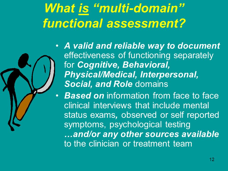 What is multi-domain functional assessment