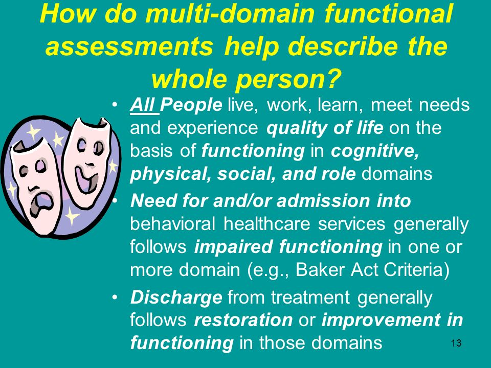 How do multi-domain functional assessments help describe the whole person