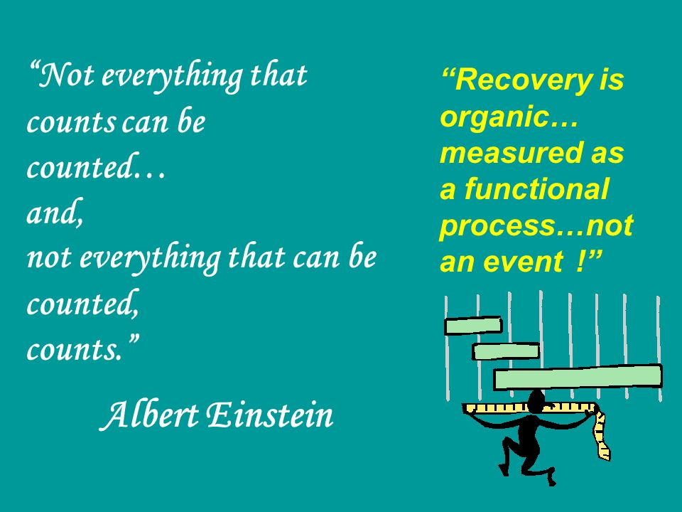 Recovery is organic… measured as a functional process…not an event !