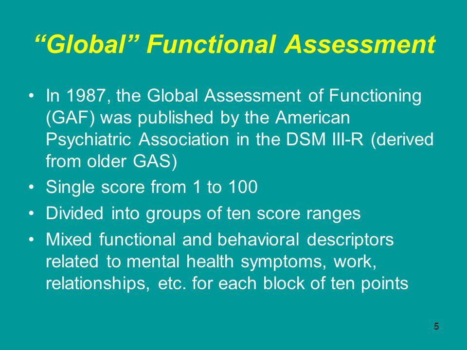 Global Functional Assessment