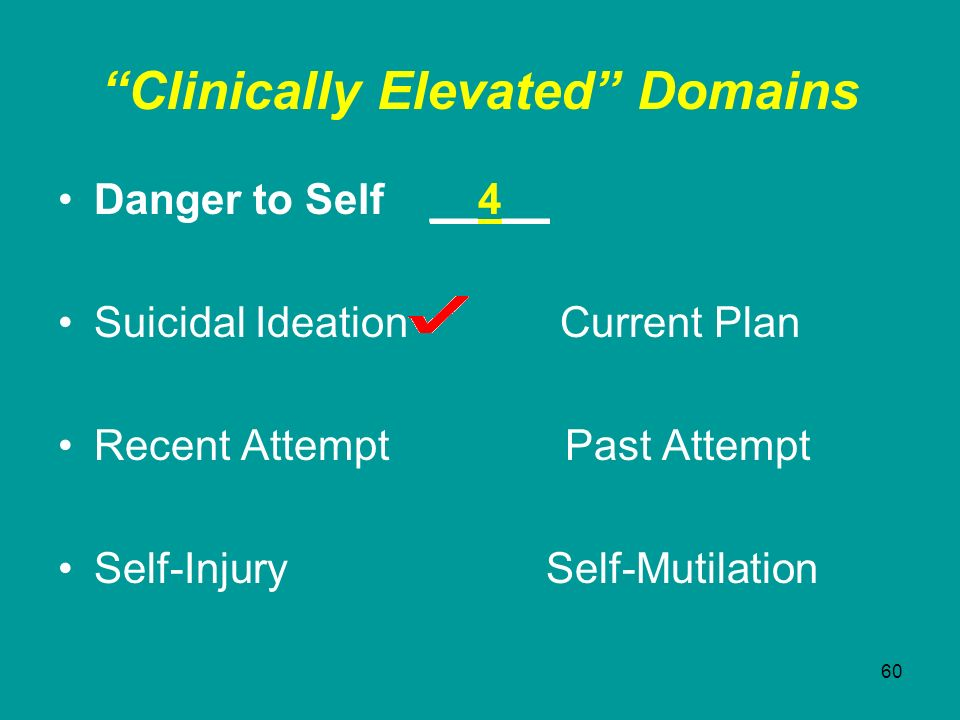 Clinically Elevated Domains