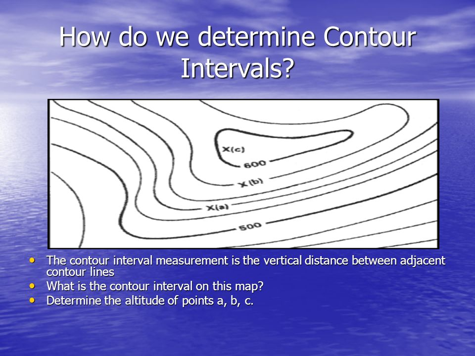 How do we determine Contour Intervals