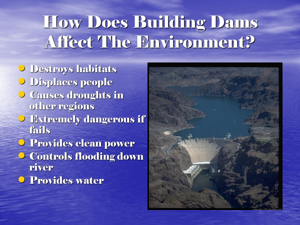 How Does Building Dams Affect The Environment
