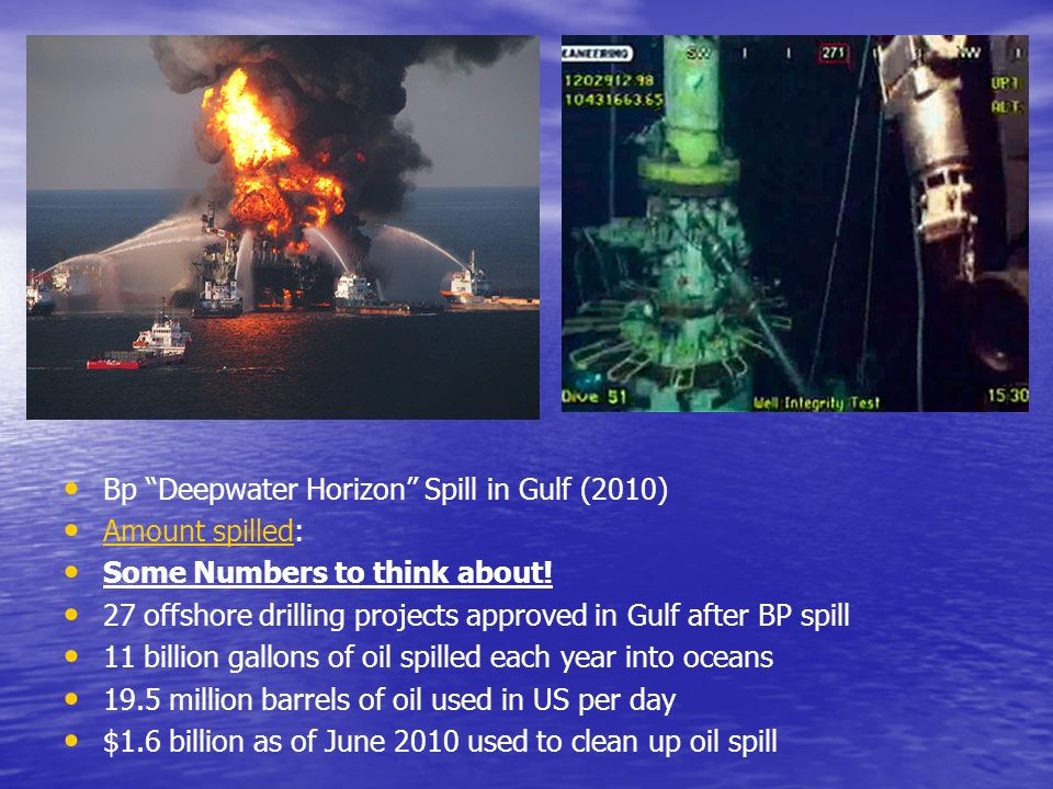 Bp Deepwater Horizon Spill in Gulf (2010)