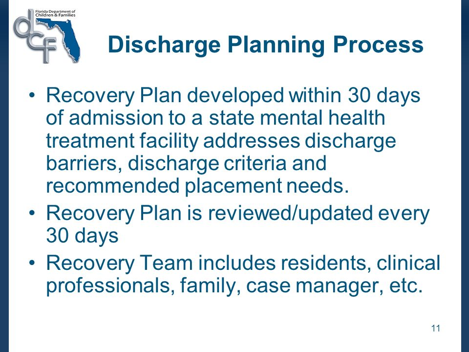 Discharge Planning Process