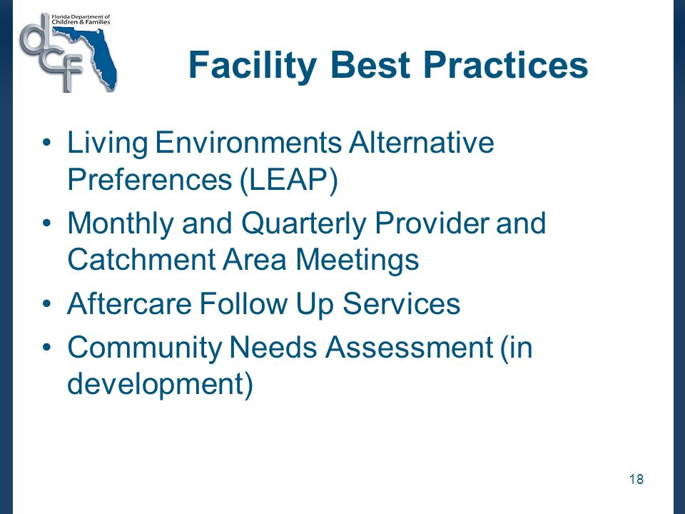 Facility Best Practices