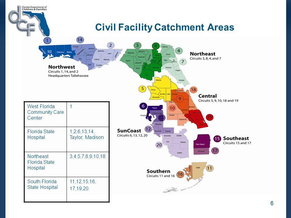 Civil Facility Catchment Areas