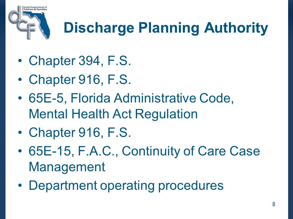 Discharge Planning Authority