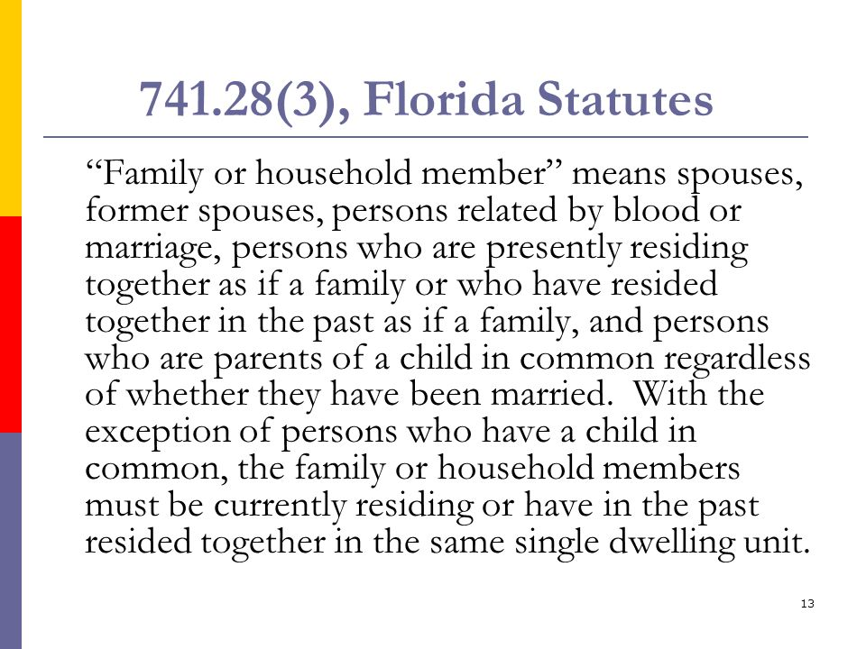 741.28(3), Florida Statutes