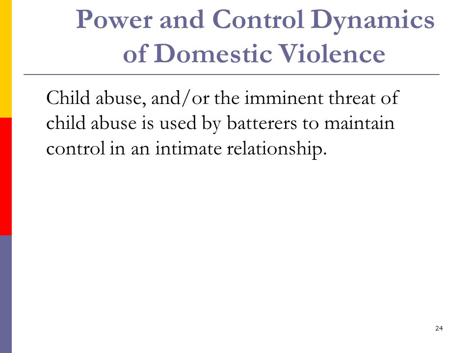 Power and Control Dynamics of Domestic Violence