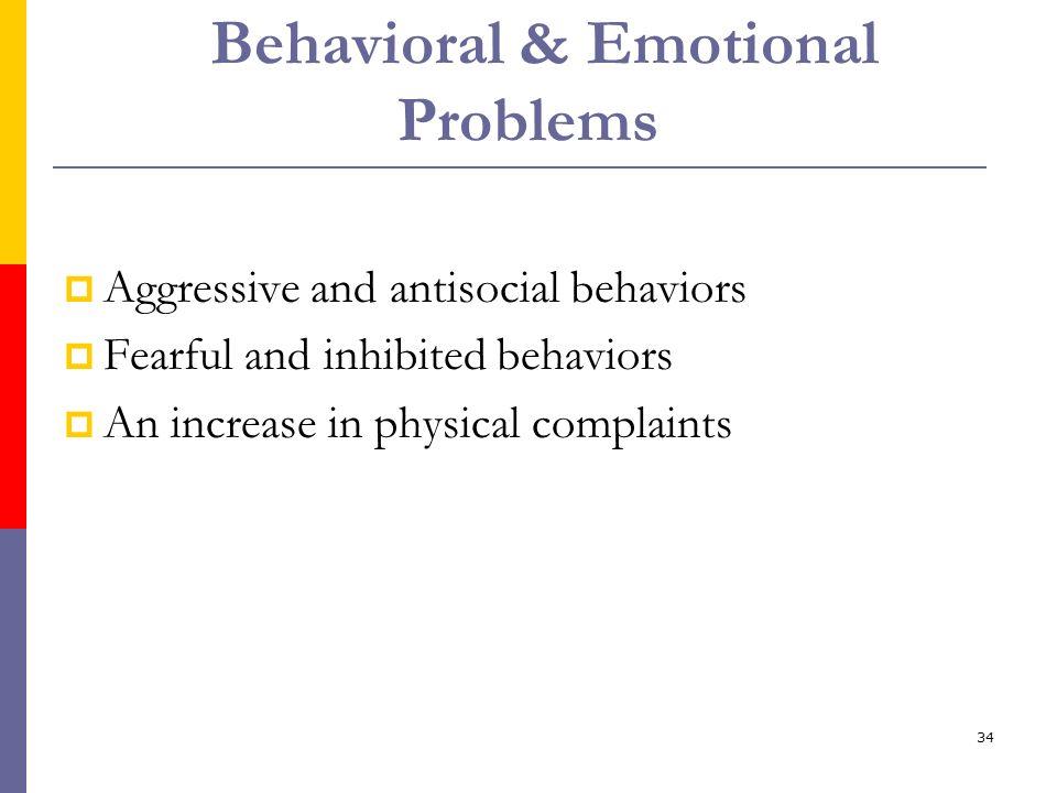 Behavioral & Emotional Problems