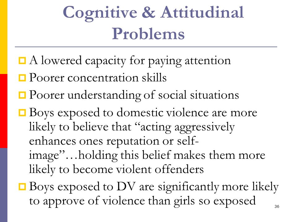 Cognitive & Attitudinal Problems