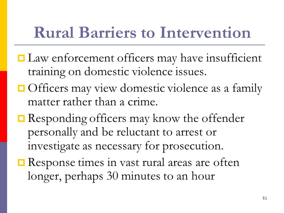 Rural Barriers to Intervention