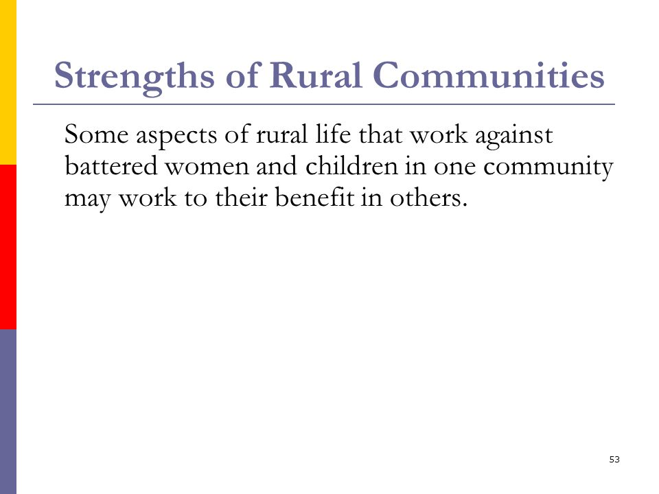 Strengths of Rural Communities