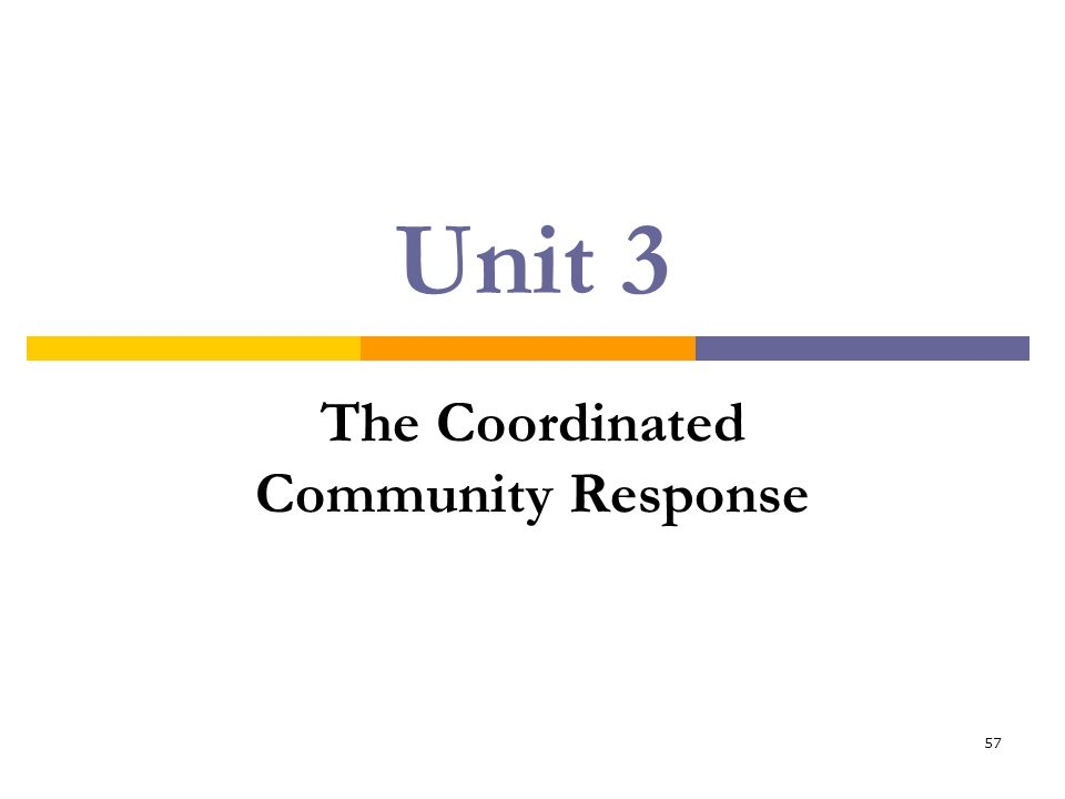 The Coordinated Community Response