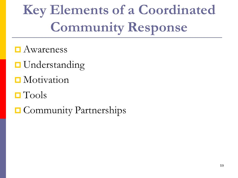 Key Elements of a Coordinated Community Response