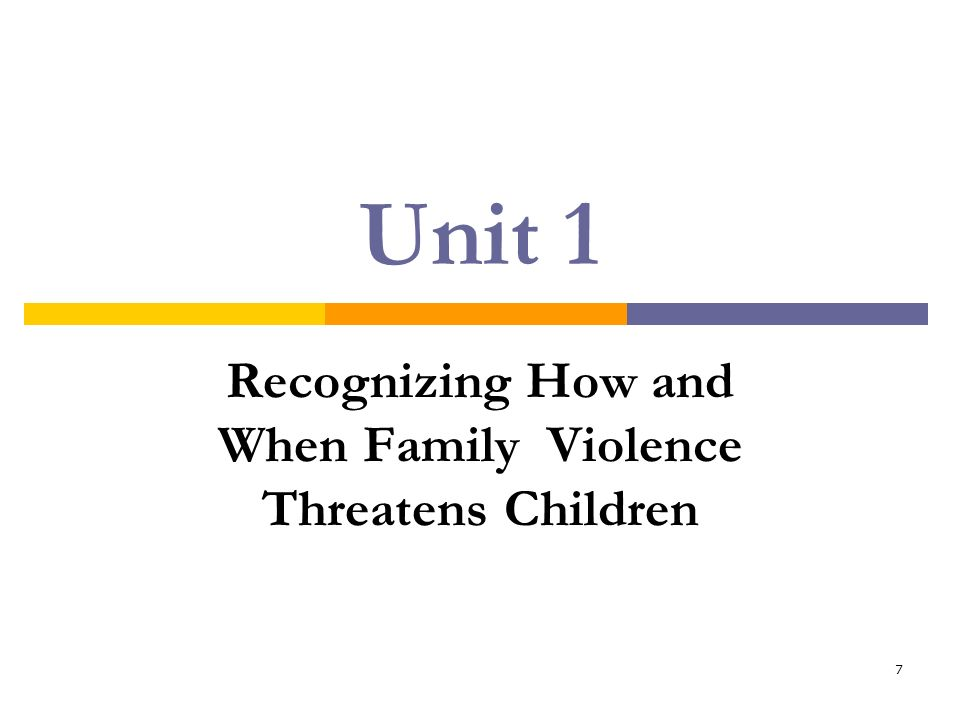 Recognizing How and When Family Violence Threatens Children