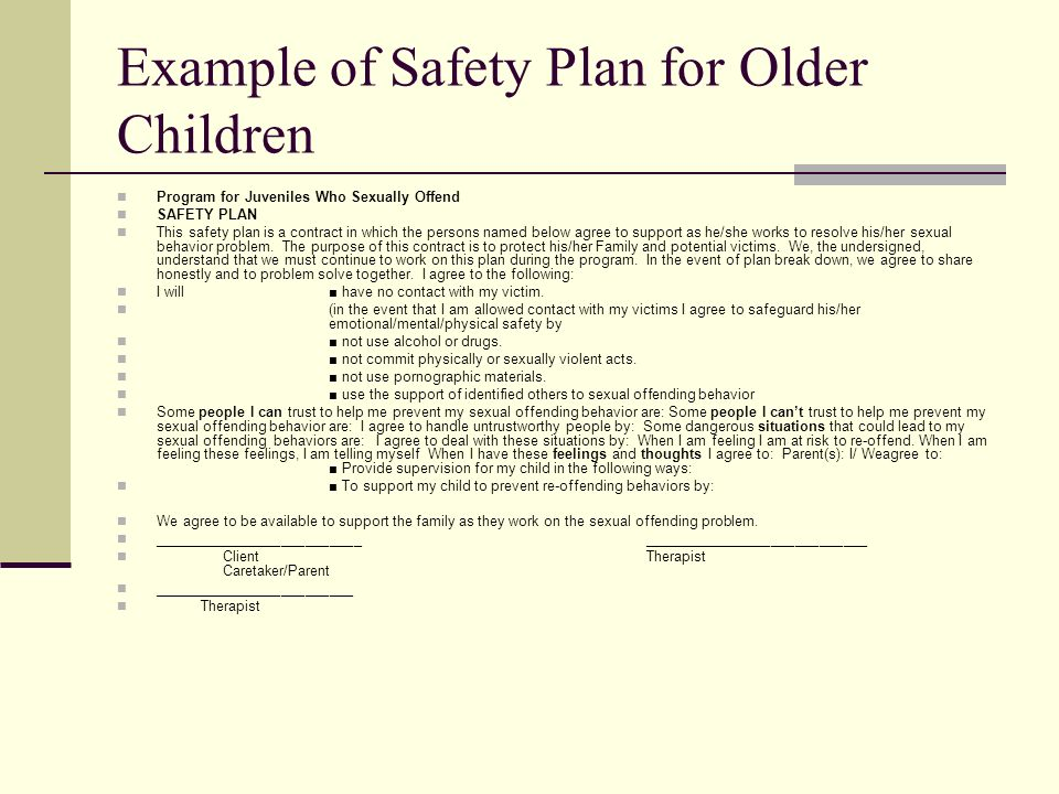 juvenile sex offender safety plan template wisely rather tk. Black Bedroom Furniture Sets. Home Design Ideas