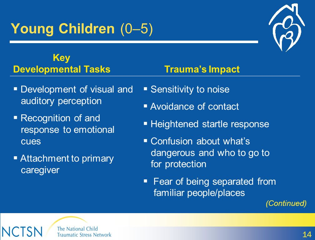 Young Children (0–5) Key Developmental Tasks Trauma's Impact