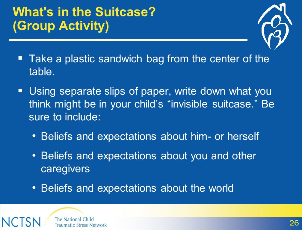 What s in the Suitcase (Group Activity)