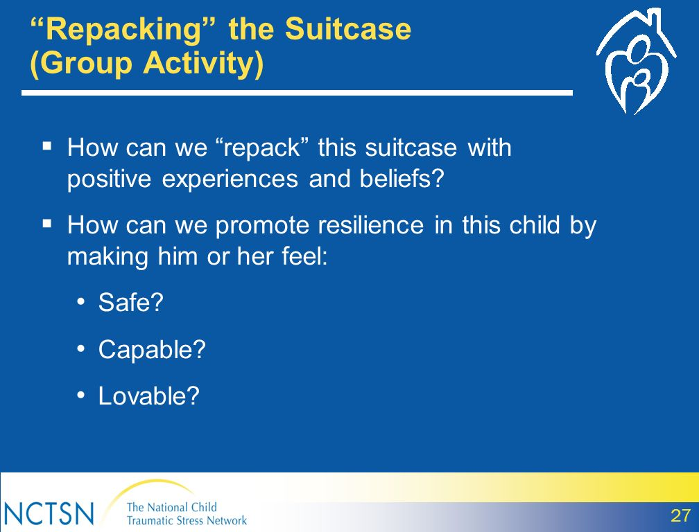 Repacking the Suitcase (Group Activity)