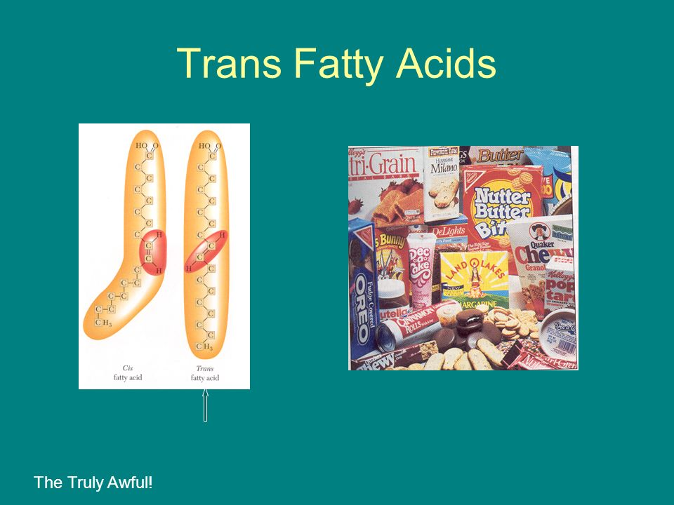 Trans Fatty Acids The Truly Awful!